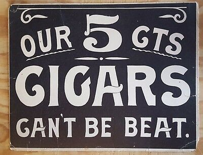1910 5c Cigar Cardboard Sign & OWL Cigars paper lot 5 ITEMS