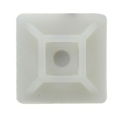 100X Cable Tie Adhesive Socket Binder Adhesive Suitable For 19X19Mm White C5T5