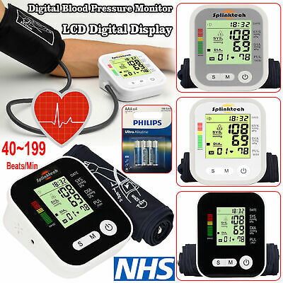 Portable Digital Upper Arm Blood Pressure Monitor Meter Intellisense 180 Memory