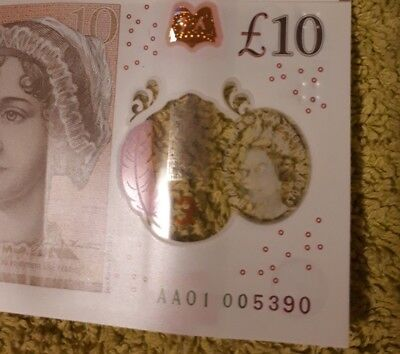 low number £10 note AA01