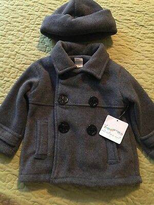Starting Out Infant Baby Boy Fleece Gray Peacoat 18 Month NWT