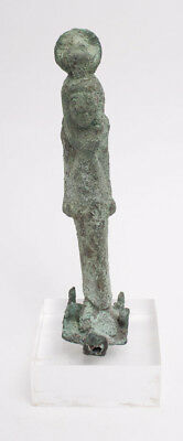 Ancient EGYPTIAN Standing Figure of Isis Late period c.620-30 BC.