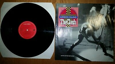 "The Clash - London Calling 12"" Uk Limited Edition +Poster Ex+"