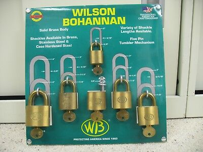 WILSON BOHANNAN PADLOCK DISPLAY BOARD / wb lock/ wb padlock / locksmith business