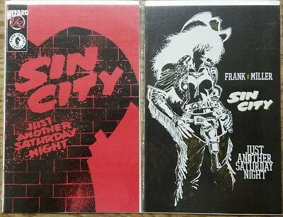 Sin City Just Another Saturday Night #1 and Wizard 1/2 (1998 Dark Horse)
