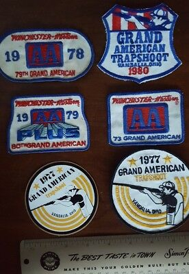 Vintage Winchester Western AA PLUS Grand American Trap Shoot patches/sticker ++