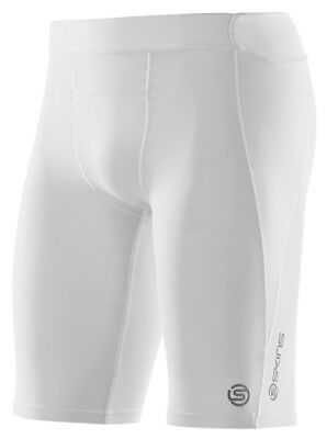 Skins A400 Men's Half Tights - WHITE COLOUR - LARGE SIZE- FREE FREIGHT