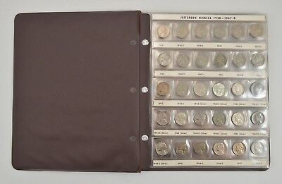 NICE ALBUM - 1938- Jefferson Nickel US Coin Collection Set *671