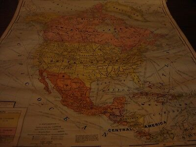 Vintage Roll Down Classroom Map