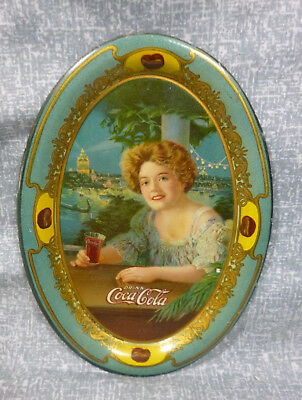 1909 Original Coca Cola Tin Tip/Change Tray