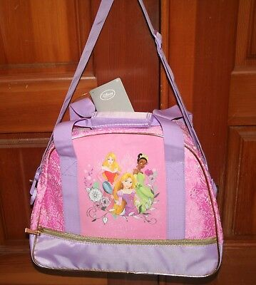 NWT Disney Store PRINCESS BALLET BAG travel tote dance gym carry on pink purple