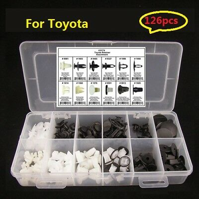 146pcs Car Automotive Push Pin Rivet Trim Clip Panel Interior Assortment