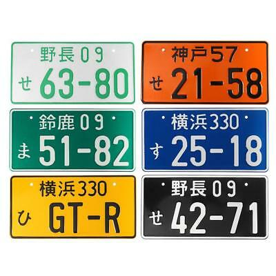 6 Colors Universal Numbers Japanese Auto Car License Plate Aluminum Nice