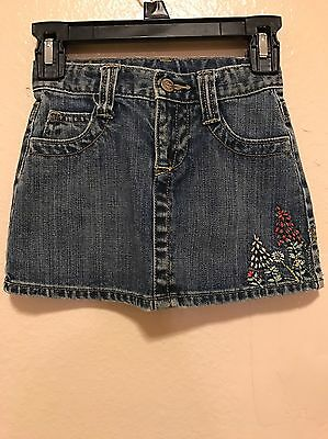 Baby Gap Denim Jean Skirt With Embroidery 3Years