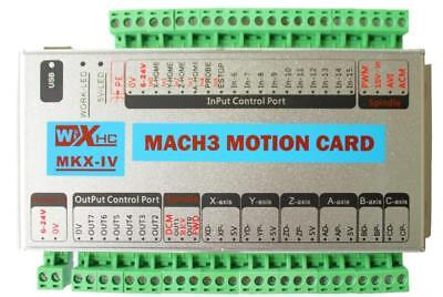 CNC USB Mach3 Interface Driver Board 4 Axis Motion Card Controller for Milling