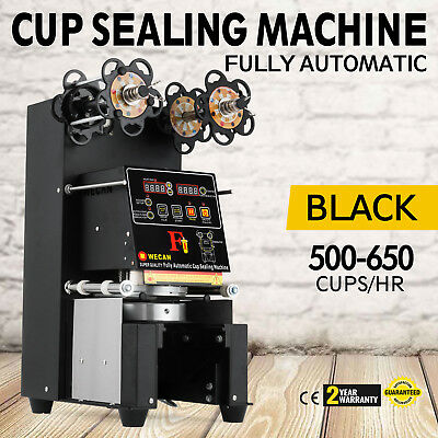 Electric Fully-automatic Bubble Tea Cup Sealing Machine 420W 500-650 Cups/Hr!
