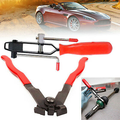 2PC Car Automotive CV Joint Boot Clamp Pliers Banding Crimper Tools With Cutter