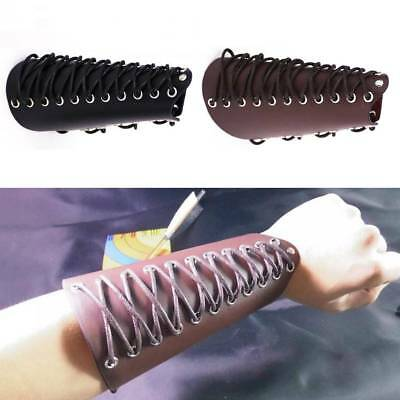Adjustable Strap Cow Leather Shooting Hunting Archery Arm Guard Gear Bow Protect