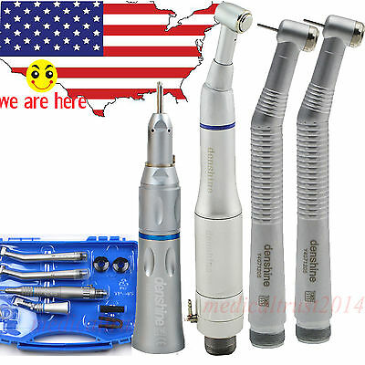 2PCS push button high speed + slow low speed dental handpiece 2 Hole +CARRY CASE