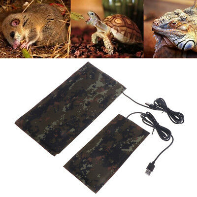 Waterproof USB Pet Heat Mat Carbon Reptile Fiber Constant Warmer Temperature Bed