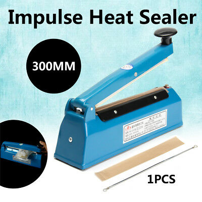 "200mm Impulse Heat Sealer 12"" Electric Plastic Poly Bag Hand Sealing Machine New"