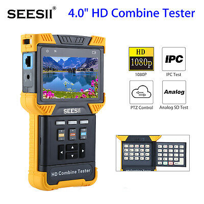 "SEESII 4""1080P HDCombine Tester IPC CCTV Analog IPCamera Test TFT Display 8GB UK"