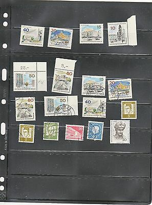 West Berlin Unmounted Mint and Used Selection (17 stamps)