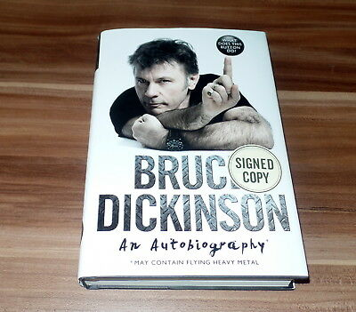 """Bruce Dickinson *Iron Maiden*, signed/signiertes Book/Buch """"Autobiography*"""