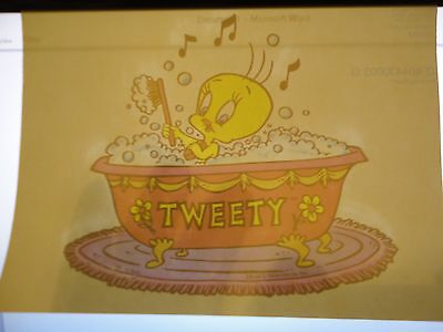 Rare Tweety Bird in a Tub Vintage Iron On Transfer