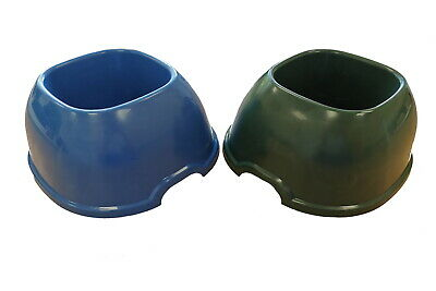 Heritage Cat Dog Pet Non Slip Bowls No Spill Tray Clean Double Dinner Food Water