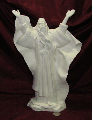 Ceramic Bisque Omnipotent Wizard U-Paint Ready to Paint Mystical Fantasy