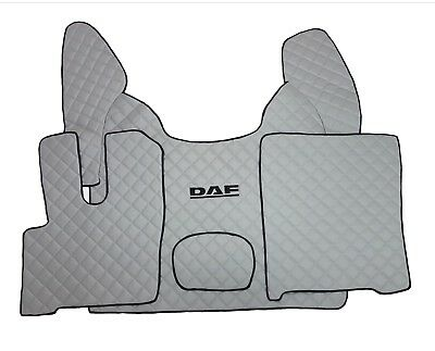 Set of Floor Mats Covers For NEW DAF XF 106 AUTOMAT LHDrive GREY Eco Leather