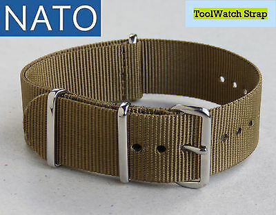 BRACELET MONTRE NATO 20mm (kaki strong) military hunting outdoor pilot watch