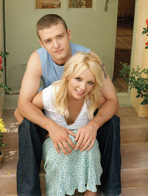 Justin Timberlake and Britney Spears UNSIGNED photo - K8058 - SEXY!!!!