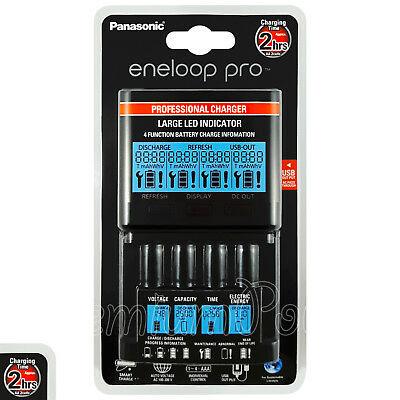 Panasonic Eneloop PRO Professional Charger LCD screen LED USB output BQ-CC65