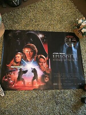 Star Wars Poster Original REVENGE OF THE SITH EPISODE III (3) double sided 2005