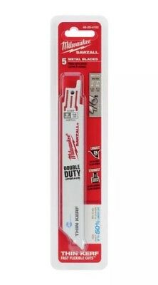 "Milwaukee 48-00-4186 Ice Edge Metal Cutting Sawzall Blade 24 TPI 6"" - (5 pack)"