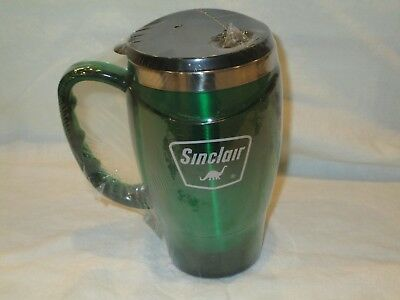 NEW Sinclair Oil Corp. NEO GREEN Coffee Mug, 20 oz. Stainless Steel Liner, Dino