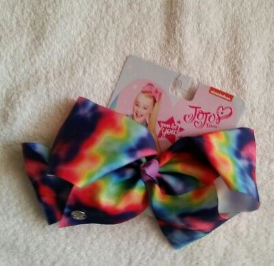 NWT AUTHENTIC JoJo Siwa LARGE BOW CUTE FUNKY TYE TIE DYE NICKELODEON ☆ FREE SHIP