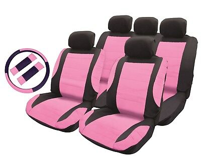 Universal Luxury Pink Girly Car Seat Cover Set