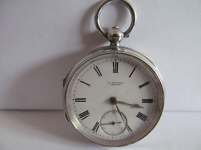 1901 pocket watch by H.Stones Leeds solid silver very good condition and working