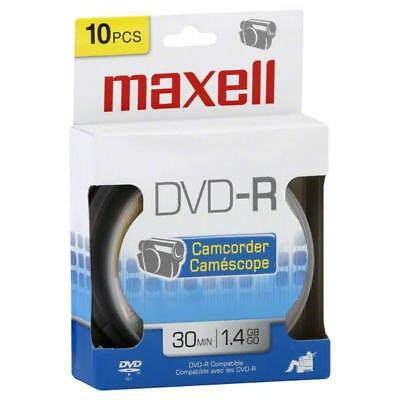 Maxell DVD-R, Compatible, Camcorder, 30 Minutes 1.4 GB - Pack of 10