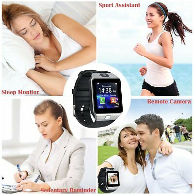 Bluetooth GSM Smart Watch Call MP3 Clock Kids Tracker With Sim Android Iphone UK
