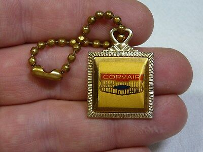 Vintage Chevrolet Corvair Keychain Fob Chevy Advertising