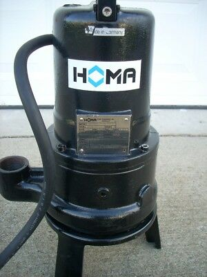2 HP Homa Submersible Grinder Pump - Heavy Duty Cast Iron
