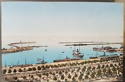 Old Antique Steamships Middle East Harbour Colour Unused Postcard