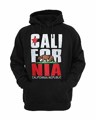 Kids California Republic Bear Flag Hoodie Pullover Fleece Sweatshirt Sweater