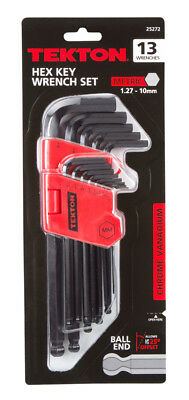 TEKTON Long Arm Ball End Hex Key Wrench Set, Metric, 13-Piece | 25272