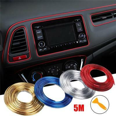 3/5M Edge Gap Interior Line Moulding Trim Molding Strip Decor Car Truck Q