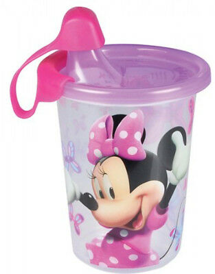 Minnie Mouse Take Sippy Cup Baby Toddler Feeding Child Drink Travel 3 Pack 10 Oz